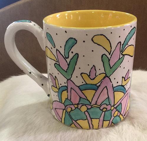 #4 mug pink inside (no Bees)