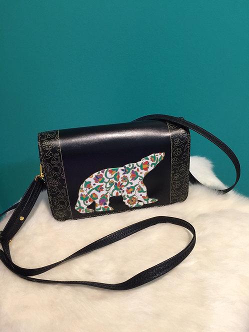 Spring Bear compact shoulder purse