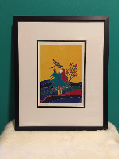 Peaceful Angel framed card