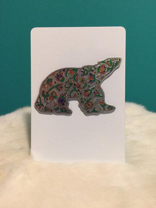 Metallic Spring Bear Magnet