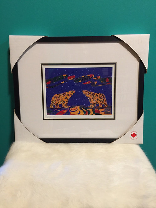 Spring Coat framed card