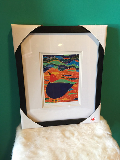 Shorebird ll framed card