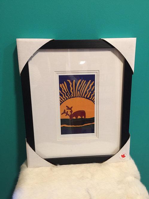 Sunset framed card