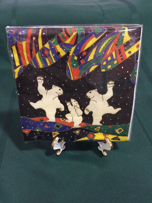 Dancing Bears Paper Napkins