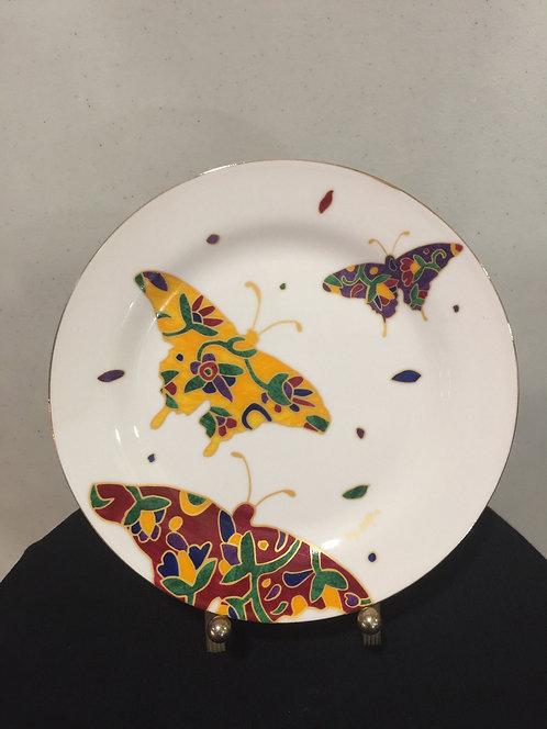 Butterflies  round plate
