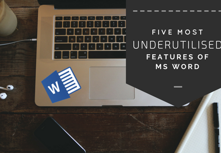 5 most underutilised MS Word features