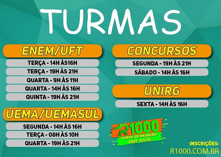 HORARIOS R1000