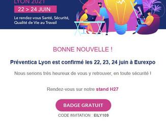 Retrouvez-nous au salon Préventica les 22, 23 et 24 juin à Eurexpo !