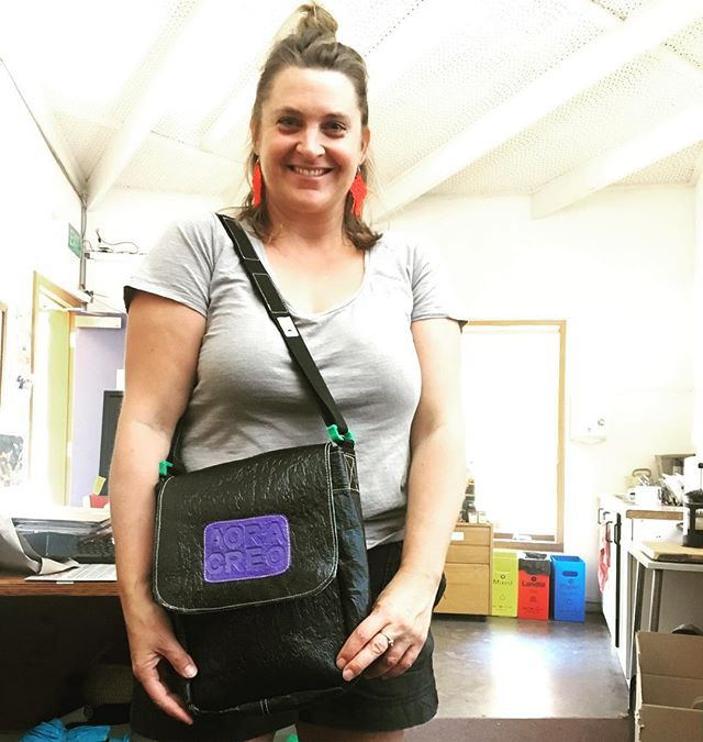 Amanda with her new shoulder bag! Thank