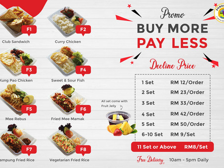 Buy More, Pay Less Promo | Takeaway & Delivery Menu
