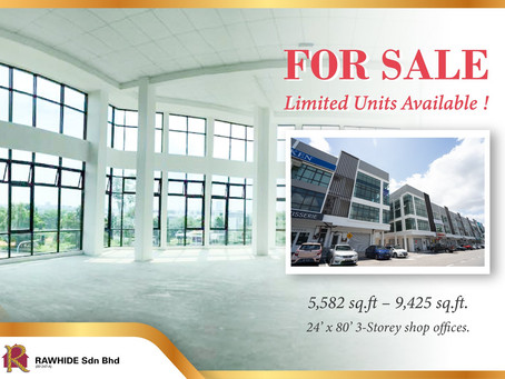 3 Storey Shop For Sale!!! Limited Units Available!