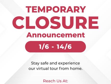 Temporary Closure Anouncement