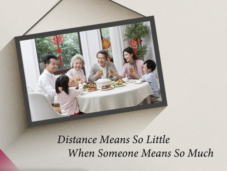 Distance Means So Little, When Someone Means So Much