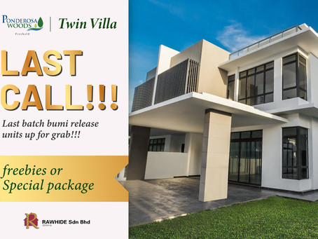 Ponderosa Woods Twin Villa Last Call!