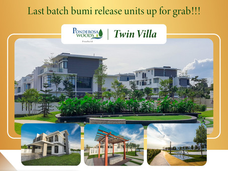 Last Call !!! Last batch bumi release units up for grab !!!