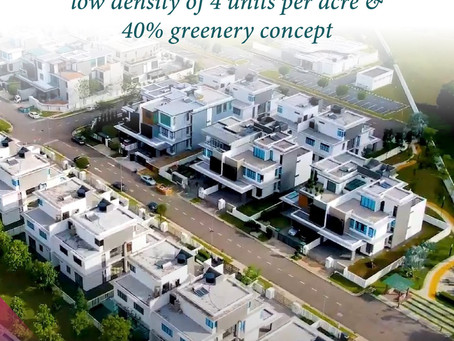 Designed with low density of 4 units per acre & 40% greenery concept