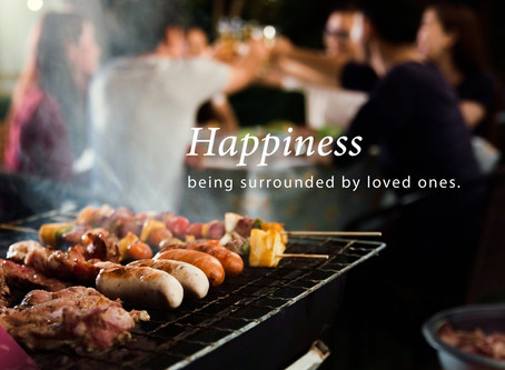 """🍢 """"Happiness is being surrounded by loved ones"""""""