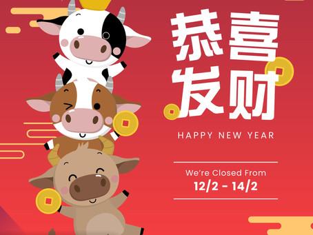 Chinese New Year Closure Notice