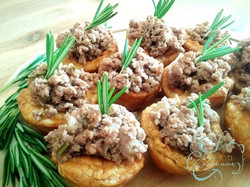 Mini beef and rosemary pies