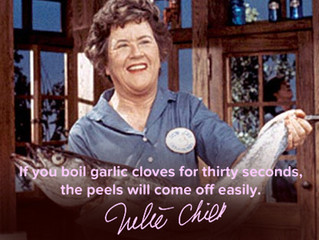 Tips form the charming, Julia Child