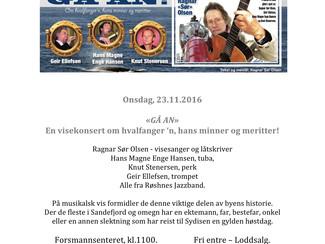 """""""GÅ AN"""" spilles på Forsmannsenteret og Bugårdensenteret, 23.11.2016, kl 1100 og kl 1530 i"""