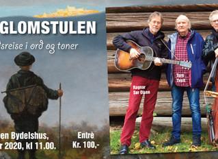 Ola Glomstulen - En tidsreise i Ord & Toner: Urframføres på Gråtenmoen Bydelshus, 11.feb.2020.