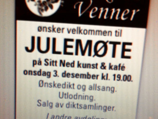 """En session med Ragnar Sør Olsen på """"Sitt Ned"""" i regi av Diktets Venner!"""