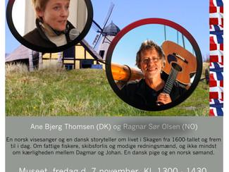 En visemusikalsk happening i Skagen, 7.nov.2014 - Velkommen!