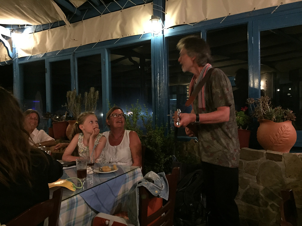 """Live"" at Three Dolphins in Lefkos, Karpathos."