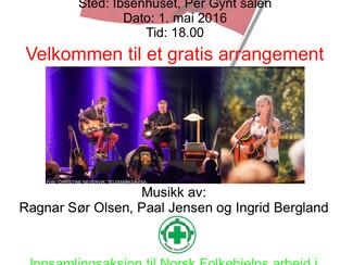 1.mai-konsert i Ibsenhuset - Gratis inngang!