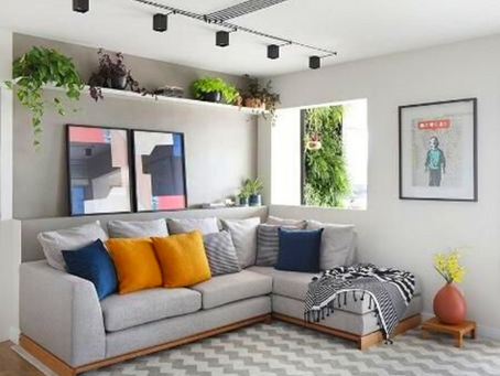 A versatilidade da sala de estar