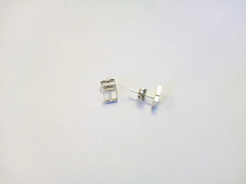 Pendientes minimalistas en plata