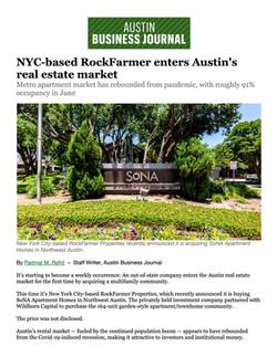 ABJ, NYC-based RockFarmer enters Austin's real estate market, 07.13.21