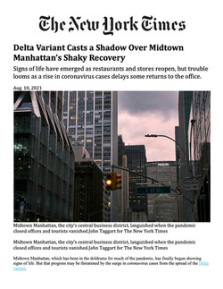 New York Times, Delta Variant Casts a Shadow Over Midtown Manhattan's Shaky Recovery, 08