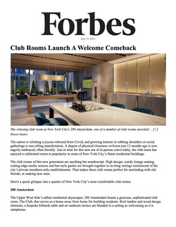 Forbes, Club Rooms Launch A Welcome Comeback, 07.12.21