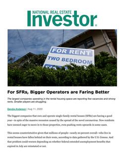 NREI, For SFRs, Bigger Operators are Far