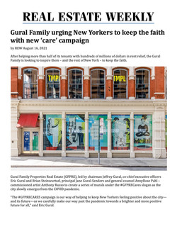 REW, Gural Family urging New Yorkers to keep the faith with new 'care' campaign, 08.16.21.