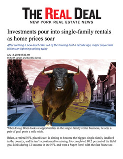 Real Deal, Investments pour into single-family rentals as home prices soar, 07.12.21