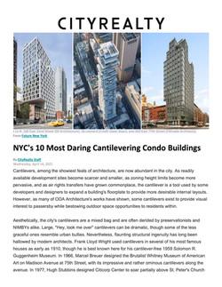 CityRealty, NYC's 10 Most Daring Cantilevering Condo Buildings, 04.14.21
