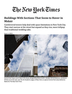 New York Times, Buildings With Sections That Seem to Hover in Midair, 06.04.21