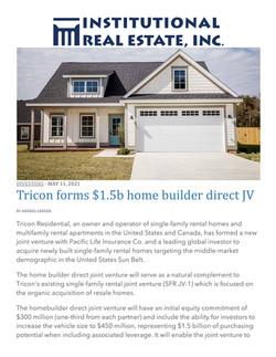 IREI, Tricon forms $1