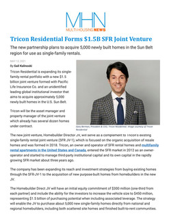 MHN, Tricon Residential Forms $1