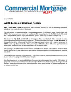 CMA, ACRE Lends on Cincinnati Rentals, 0