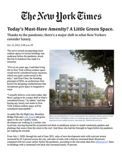 New York Times, Today's Must-Have Amenity_ A Little Green Space, 10.15.21