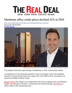 Real Deal, Manhattan office condo prices