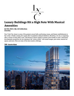 LX Collection, Luxury Buildings Hit a High Note With Musical Amenities, 07.28.21