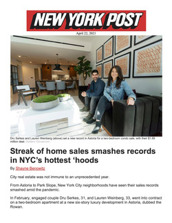 New York Post, Streak of home sales smas