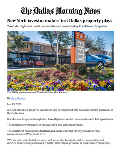 Dallas Morning News, New York investor makes first Dallas property plays, New York investor makes fi
