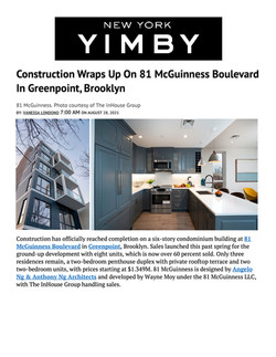 YIMBY, Construction Wraps Up On 81 McGuinness Boulevard In Greenpoint, Brooklyn, 08.28.21.