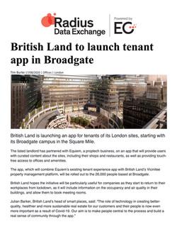 EG Radius, British Land to launch tenant